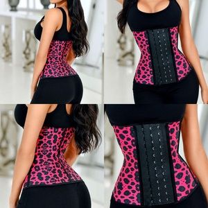 Cheetah Print Hot Print hook and eye waist trainer